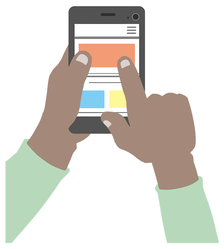 Using a Smartphone clipart. Free download transparent .PNG | Creazilla