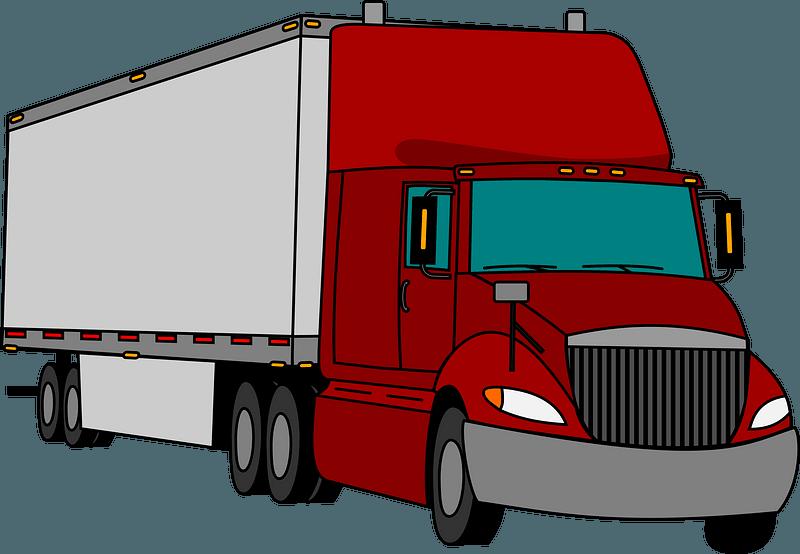 Semi-trailer clipart