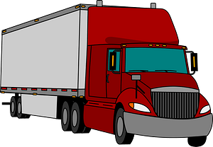 Semi-trailer clipart