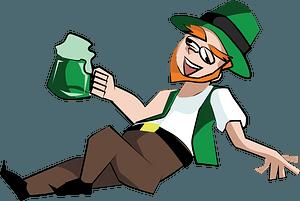 Drunk Leprechaun clipart