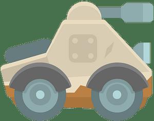 Beige tank clipart