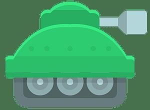 Green tank clipart