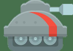 Grey tank clipart