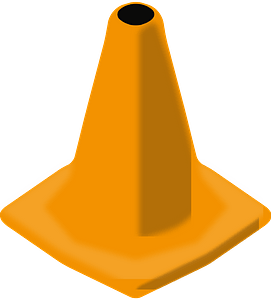 Orange Traffic Cone clipart