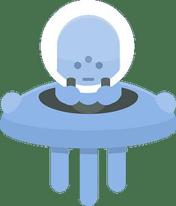 Blue alien ufo clipart