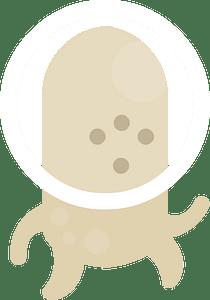 Beige alien clipart