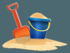 Beach Shovel and Bucket clipart