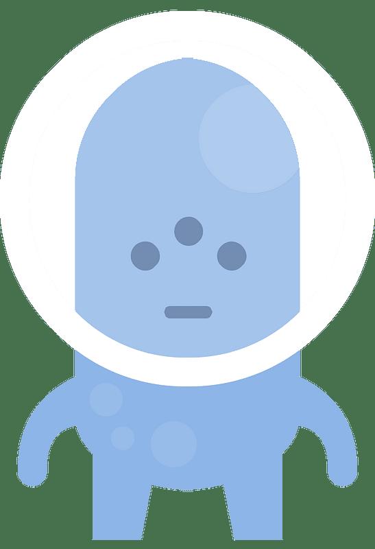 Blue alien кліпарт
