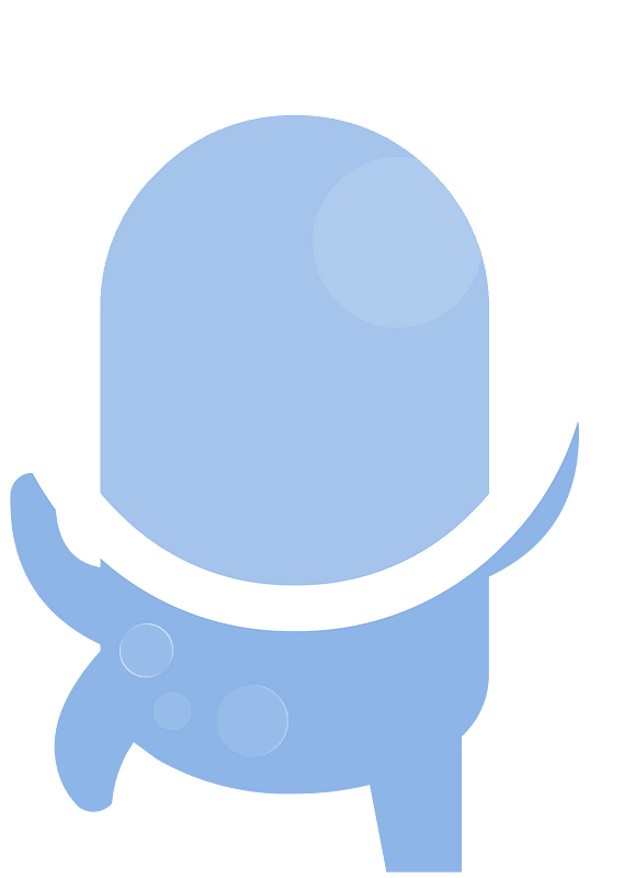 Blue alienのクリップアート