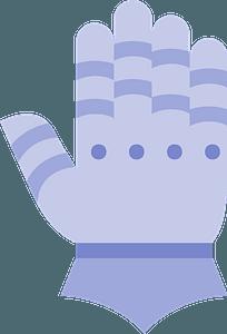 Purple Glove clipart