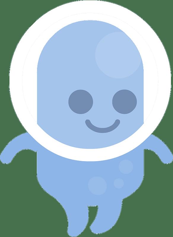 Blue alien clipart