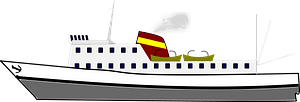 Steam ship clipart