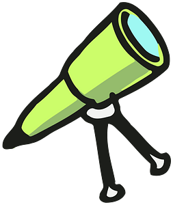 Green Telescope clipart