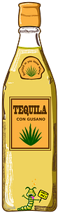 Bottle of Tequila clipart