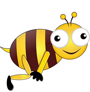 Smiling Bee clipart