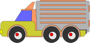 Colorful Bubble Truck and Trailer clipart