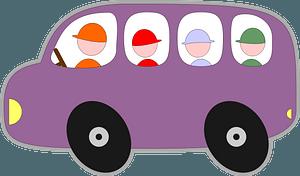 Purple Bubble Bus clipart