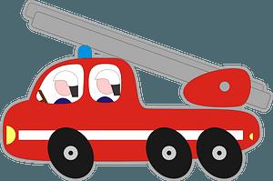 Bubble Fire Engine Ladder Truck clipart
