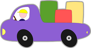 Purple Bubble Pickup Truck clipart