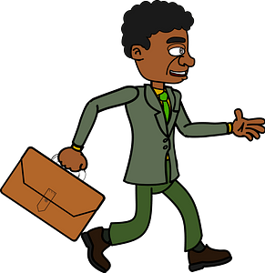 Businessman with a Briefcase Walking clipart