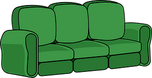 Green Sofa clipart