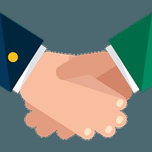 Handshake - Two White Men clipart