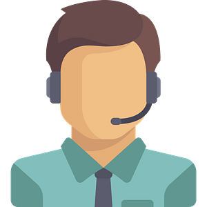 Man Wearing a Headset clipart