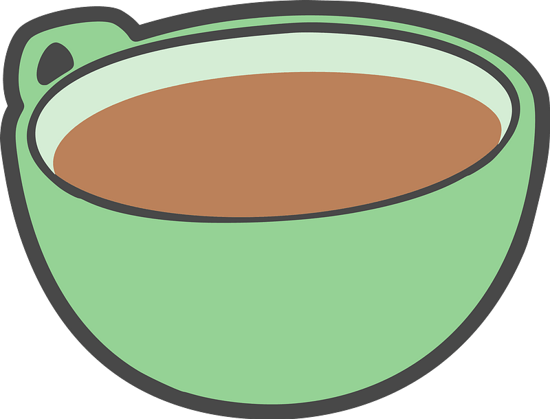 Green Coffee Cup with Coffee clipart. Free download ...