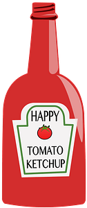 Red Ketchup Bottle clipart