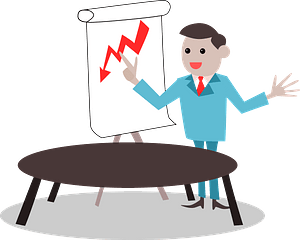Presentation at a Business Meeting clipart