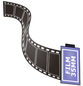 Strip of 35mm film clipart
