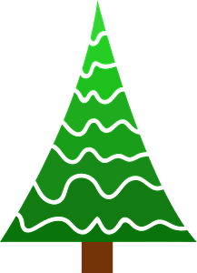Ombre of Green Pine Tree clipart