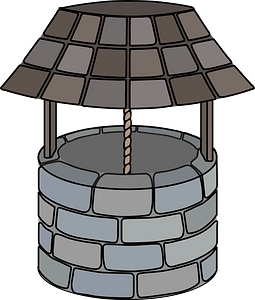 Curved Wishing Well clipart