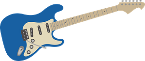 Blue Electric Guitar clipart