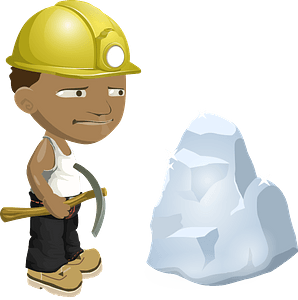 African Miner with Work Boots clipart