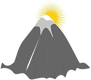 Mountain and Sun clipart