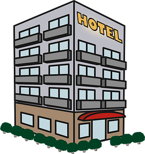 Hotel Building clipart