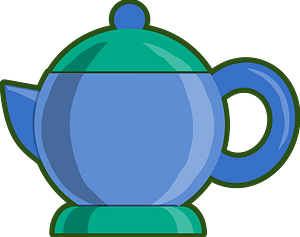 Blue and Green Tea Service clipart