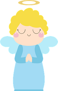 Angel in Blue clipart