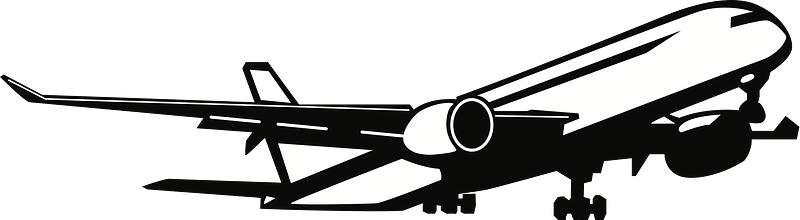Airplane Taking Off Black And White Clipart Free Download Transparent Png Creazilla