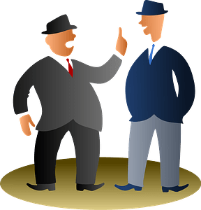 Two Office Guys Talking clipart