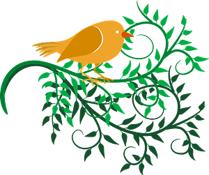 Birds and Vines clipart