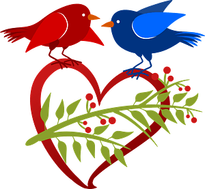 Free Hearts Clip Art Blue Bird