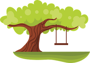 Green Tree with a Swing clipart