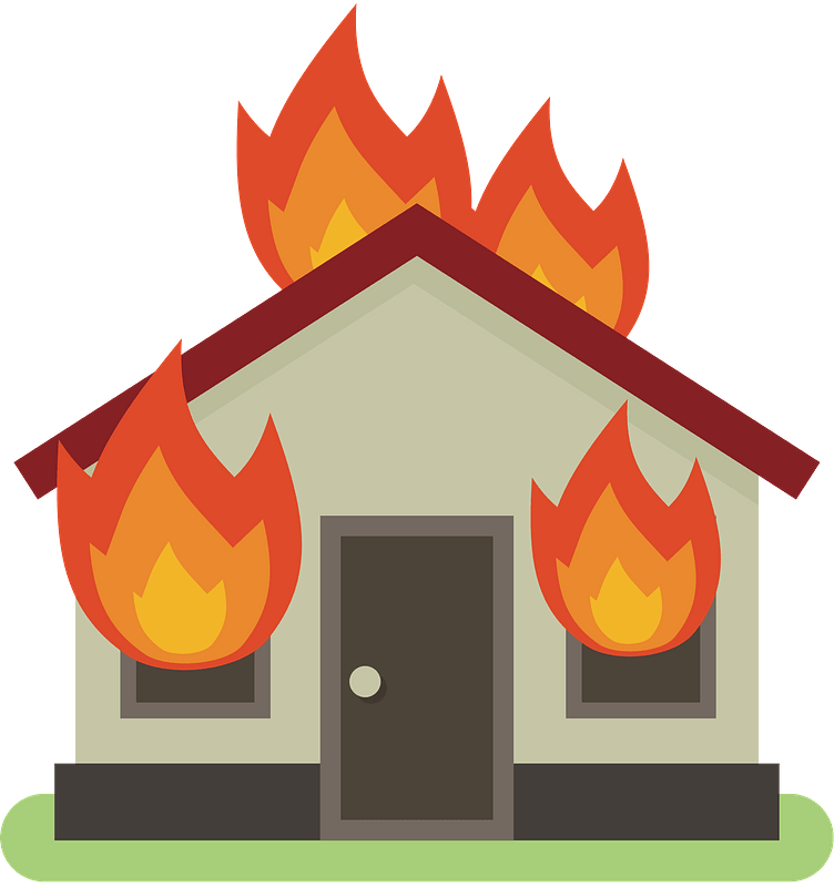 House On Fire Clipart Free Download Transparent Png Creazilla