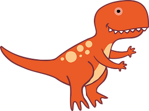 Orange T-Rex clipart
