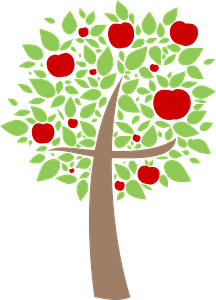 Apple Tree Cross clipart