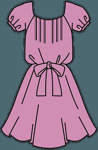 Pink Dress clipart