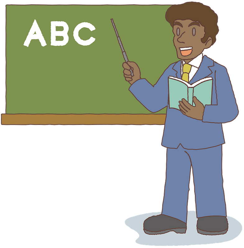 African teacher at the Chalkboard clipart. Free download ...