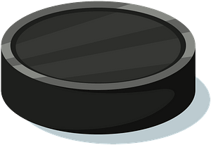 Black Hockey Puck clipart